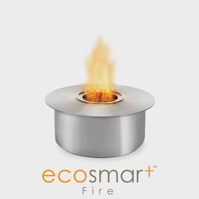 NZ Bioethanol Naked Flame - Low Round Fireplace Burner