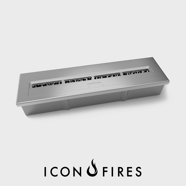 NZ Bioethanol Naked Flame - Stainless Steel Commercial Linear Fireplace Burner Insert