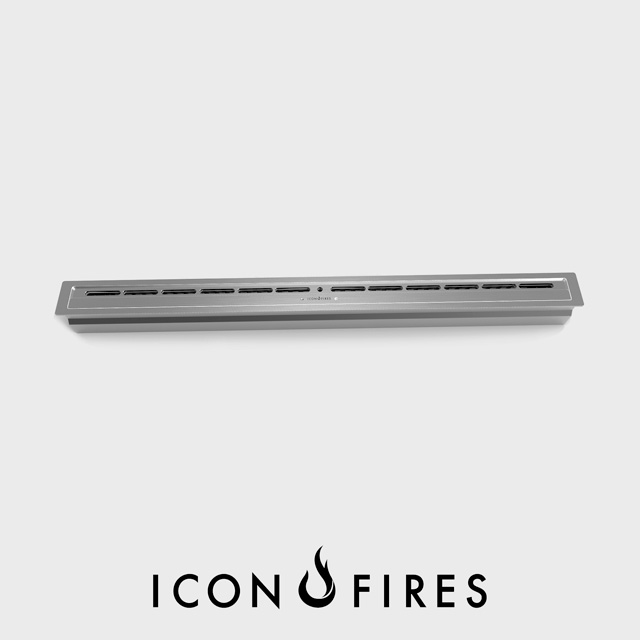NZ Bioethanol Naked Flame - Stainless Steel Linear Fireplace Burner Insert