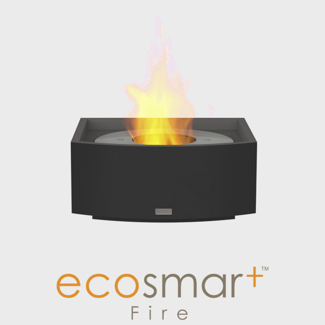 Bio Ethanol Fireplace NZ - Naked Flame - Black Self-contained Insert for Built-in Fireplace