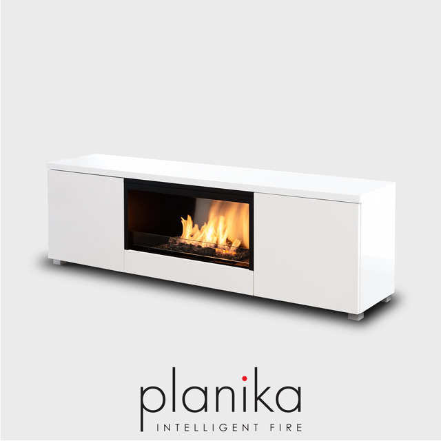 Planika Pure Flame Tv Box Free Standing Fireplace Naked Flame Nz