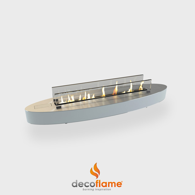 Biofuel Fireplaces NZ - Tabletop Decoflame Denver Ellipse
