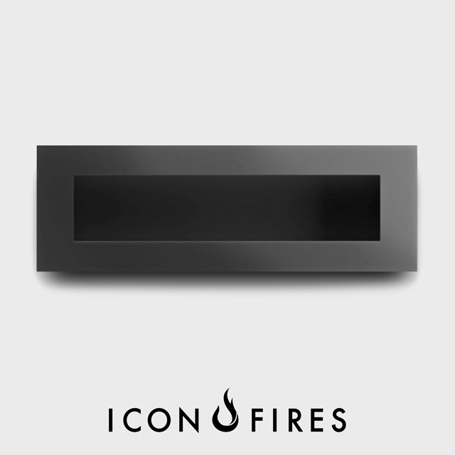 Biofuel Fireplaces NZ - Wall Mounted Icon Fires Nero 1750